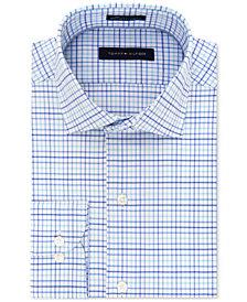 Tommy Hilfiger Men's Classic/Regular Fit Non-Iron Performance Stretch Check Dress Shirt