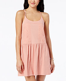 Roxy Juniors' Embroidered A-Line Dress