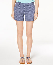 Tommy Hilfiger Gingham-Print Shorts, Created for Macy's