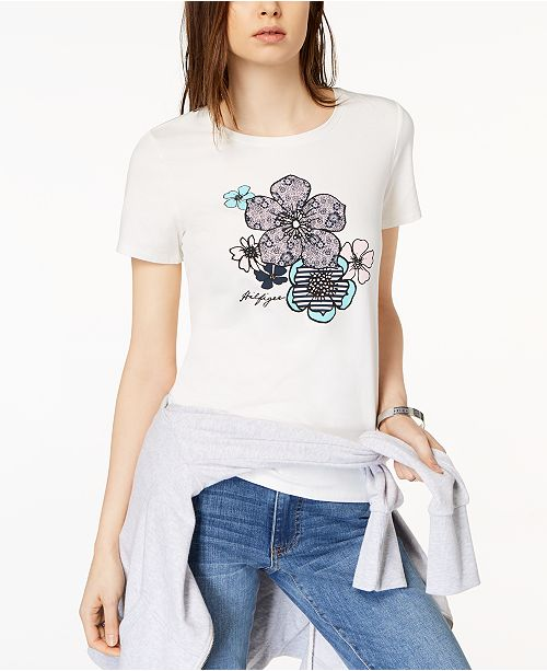 c15c48fcb ... Tommy Hilfiger Short-Sleeve Graphic T-Shirt, Created for Macy's ...