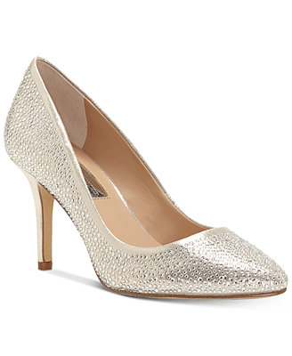 I.N.C. Zitah Pointed Toe Rhinestone Evening Pumps, Created For Macy's by Inc International Concepts