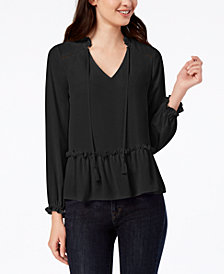 Maison Jules Peplum Top, Created for Macy's