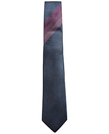 Alfani Men's Neat Silk Slim Tie, Created for Macy's