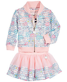 Hello Kitty 3-Pc. Graphic-Print Top, Jacket & Skirt Set, Baby Girls