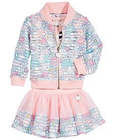 Hello Kitty 3-Pc. Graphic-Print Top, Jacket & Skirt Set, Baby Girls