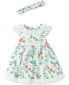 Little Me Garden Party Cotton Dress, Baby Girls