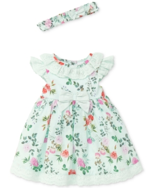 Little Me Garden Party Cotton Dress Baby Girls