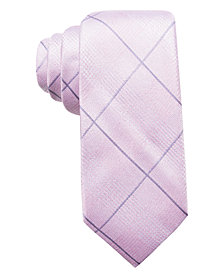 Ryan Seacrest Distinction™ Men's Sorrento Tonal Grid Silk Slim Tie, Created for Macy's