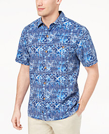 Tommy Bahama Men's Tropical Geo-Print Silk Shirt, Created for Macy's