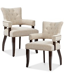 Sandra Set of 2 Dining Armchairs, Quick Ship