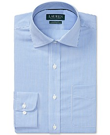 Men's Classic/Regular Fit Non-Iron Stretch Striped Dress Shirt