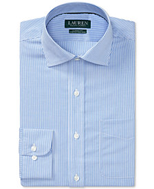 Lauren Ralph Lauren Men's Classic/Regular Fit Non-Iron Stretch Striped Dress Shirt