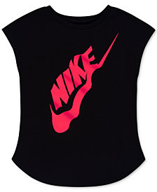 Nike Logo-Print Cotton T-Shirt, Little Girls