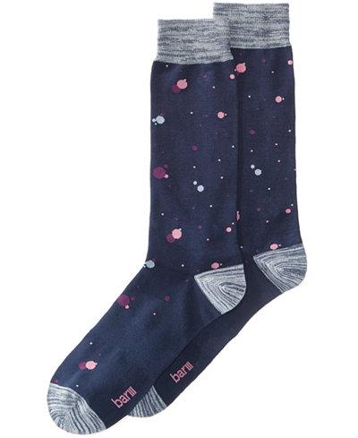 Bar III Men's Splattered Dot Socks, Created for Macy's