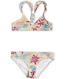 Roxy 2-Pc. Tropical-Print Bikini Swimsuit, Big Girls