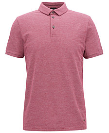 BOSS Men's Slim-Fit Stretch Piqué Polo