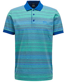 BOSS Men's Regular/Classic-Fit Striped Mercerized Cotton Polo