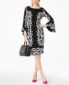 I.N.C. Bell-Sleeve Sheath Dress, Created for Macy's
