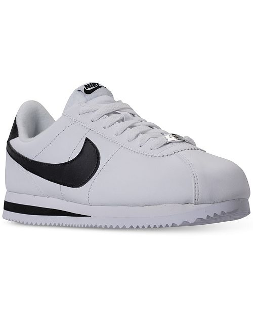 info for 323df 0e4f8 ... Nike Men s Cortez Basic Leather Casual Sneakers from Finish ...