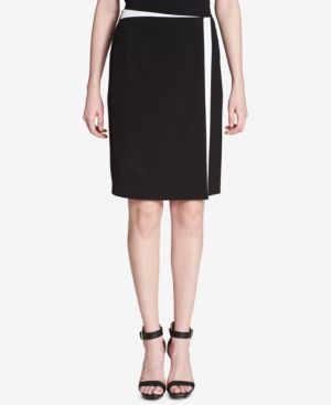 Calvin Klein Colorblocked Wrap Skirt thumbnail