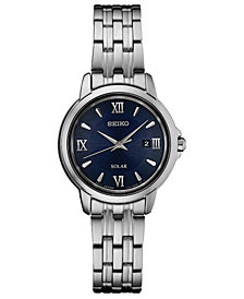 Seiko Women's Solar Essentials Stainless Steel Bracelet Watch 28mm