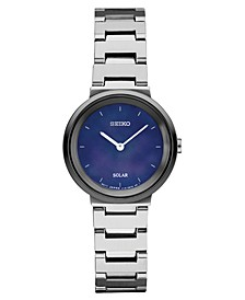 Women's Solar Essentials Stainless Steel Bracelet Watch 27.5mm