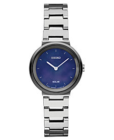 Seiko Women's Solar Essentials Stainless Steel Bracelet Watch 27.5mm