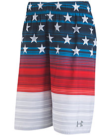 Under Armour Printed Striped Volley Swim Trunks, Big Boys