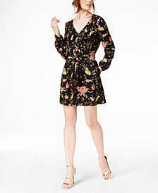 Rachel Zoe Printed Tie-Waist Fit & Flare Dress