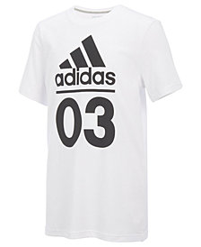 adidas Logo-Print Cotton T-Shirt, Little Boys