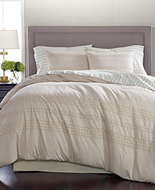 Martha Stewart Collection Eyelet Stripe Cotton 8-Pc. Queen Comforter Set, Created for Macy's