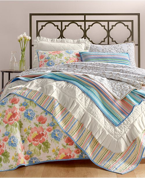 Martha Stewart Collection Tropicalia Quilt and Sham Collection, Created for Macy's