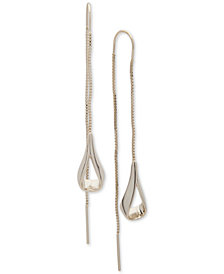 DKNY Gold-Tone Open Teardrop Threader Earrings, Created for Macy's