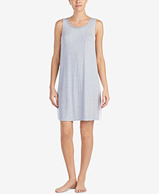 DKNY Sleeveless Contrast-Band Chemise