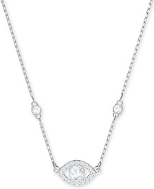 Swarovski Silver-Tone Crystal Eye Pendant Necklace