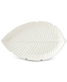 kate spade new york Cannon Street Botanical Accents Large Leaf Platter