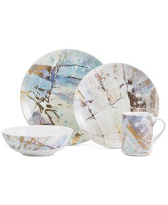 Aiden Platinum Round Platter