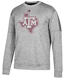 adidas Men's Texas A&M Aggies Linear Logo Crew Sweatshirt