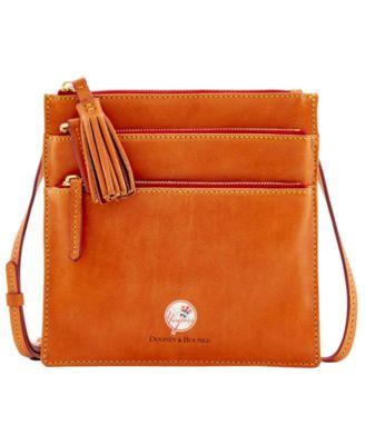 New York Yankees Florentine Triple Zip Crossbody Bag