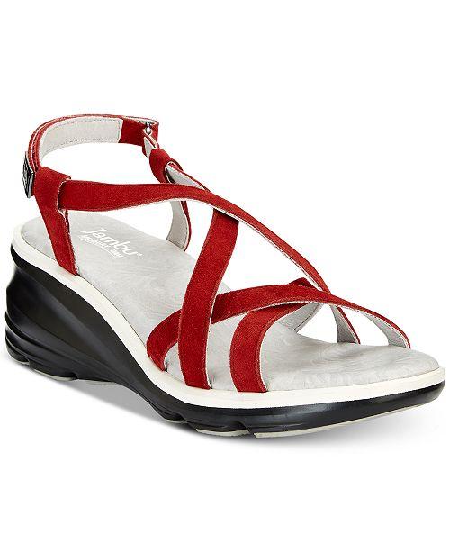 Jambu Ginger Strappy Wedge Sandals Women's Shoes nIh0OSb0J
