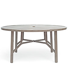 "Wayland Aluminum Outdoor 60"" Dining Round Table, Created for Macy's"