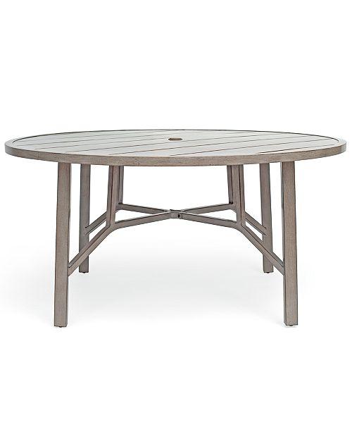 Wayland Aluminum Outdoor 60 Dining Round Table Created For Macy S
