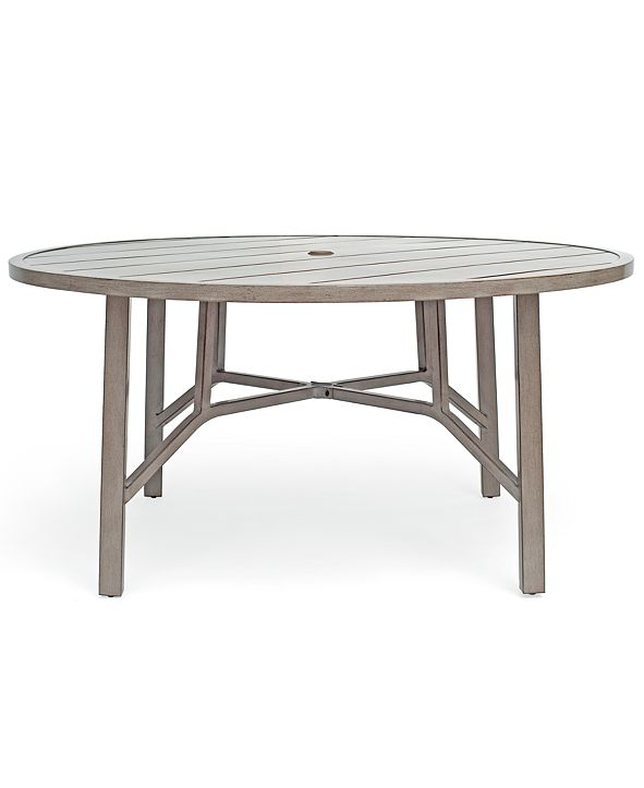 "Furniture Wayland Aluminum Outdoor 60"" Dining Round Table, Created for Macy's"