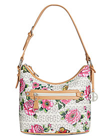 Giani Bernini Floral Block Signature Hobo, Created for Macy's