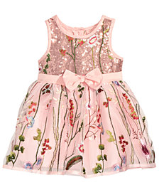 Nanette Lepore Embroidered Mesh Dress, Baby Girls