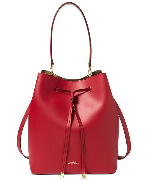 78cd7c3d2aa3 Lauren Ralph Lauren Dryden Debby Leather Drawstring   Reviews ...
