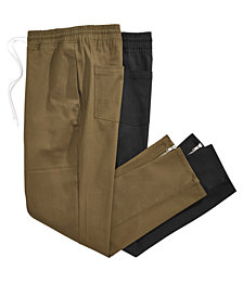 Jaywalker Men's Paneled Stretch Twill Drawstring Pants