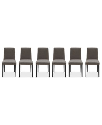 Gatlin Dining Chairs, 6-Pc. Set (6 Charcoal Dining Chairs), Created for Macy's