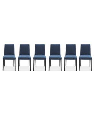 Gatlin Dining Chairs, 6-Pc. Set (6 Blue Dining Chairs), Created for Macy's