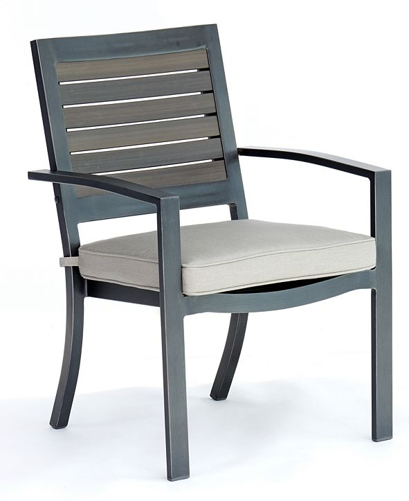 Furniture Marlough II Aluminum Outdoor Dining Chair with Sunbrella Cushion, Created for Macy's